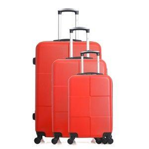 Sada 3 červených cestovních kufrů na kolečkách Hero Coronado