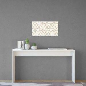 Bílý stůl Stockholm Console White, šířka 140 cm