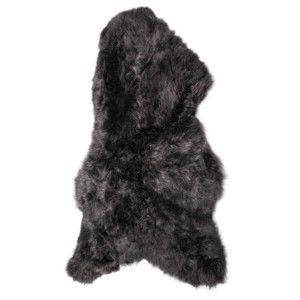 Tmavá ovčí kožešina s krátkým chlupem Arctic Fur Ptelja, 100x60cm