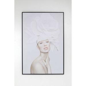 Obraz v rámu Kare Design Lady White Blossom, 80x120cm