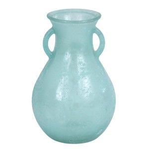 Skleněná váza z recyklovaného skla Ego Dekor Cantaro Blue, 2,15l