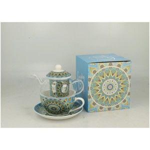 Porcelánový set na čaj pro jednoho Duo Gift Tribal