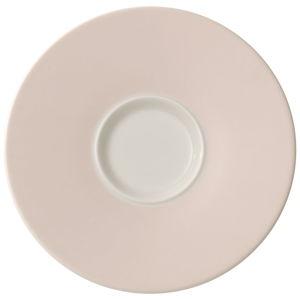 Růžový porcelánový podšálek Villeroy & Boch Caffé Club, 17 cm