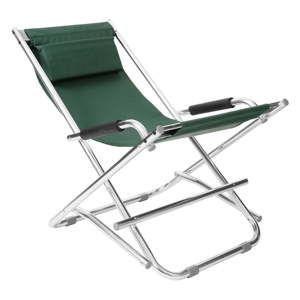 Zelená zahradní skládací židle Premier Housewares Johny