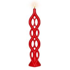 Světle červená svíčka Alusi Lela, 5hodinhoření