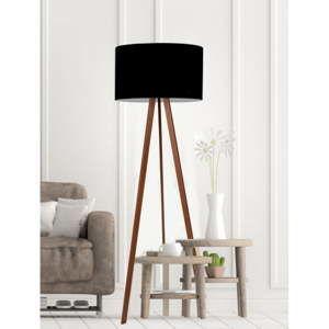 Černá stojací lampa Simple