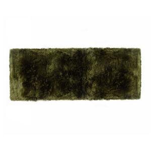 Tmavě zelený koberec z ovčí vlny Royal Dream Zealand Long, 70x190cm