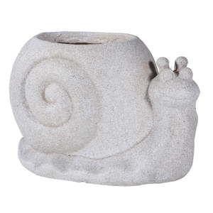 Květináč z cementu ve tvaru šneka Shaun Snail, délka40,5cm