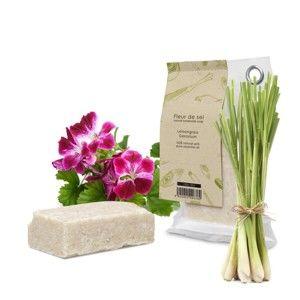 Přírodní mýdlo s vůní citronové trávy a pelargonie HF Living