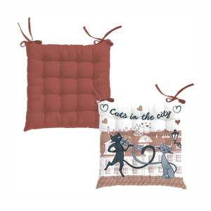 Prošívaný podsedák HOME ELEMENTS Les Chats, 40 x 40 cm