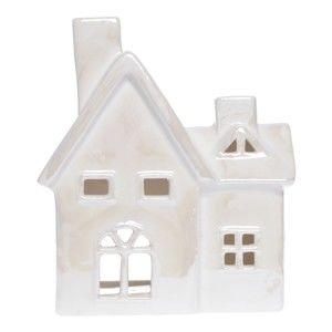 Bílá keramický svícen ve tvaru domku Ewax Maison Enniege, výška17,2cm