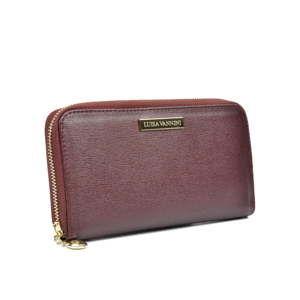 Vínová kožená peněženka Luisa Vannini Lanza