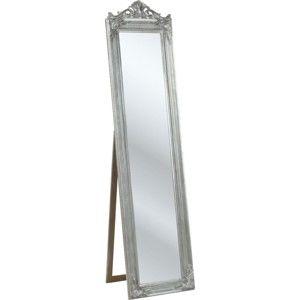 Stojací zrcadlo ve stříbrné barvě Kare Design Baroque