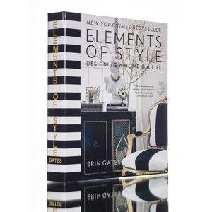 Dekorativní krabička ve tvaru knihy Piacenza Art Elements of Style