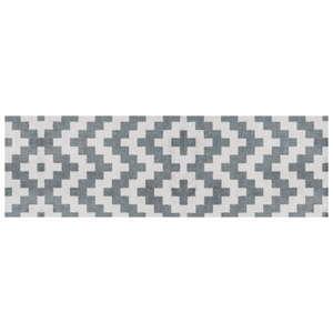 Šedě vzorovaný běhoun White Label Zic Zac, 150 x 50 cm