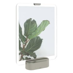 LED rámeček na fotografii se základem v šedé barvě Umbra Glo, 20x25cm