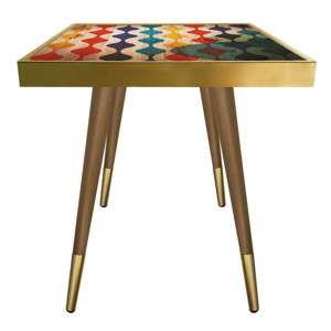 Příruční stolek Caresso Wave Square, 45 x 45 cm