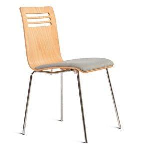 Židle se sedákem z jasanového dřeva Charlie Pommier Comfort