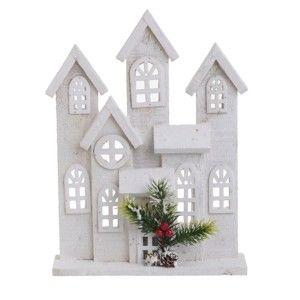Vánoční dřevěná dekorace ve tvaru domku InArt Helen