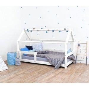 Bílá dětská postel s bočnicemi ze smrkového dřeva Benlemi Tery, 70 x 160 cm