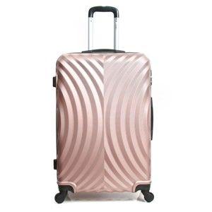 Růžový cestovní kufr na kolečkách Hero Lagos, 91l