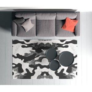 Černo-bílý koberec Oyo home Suzzo BW, 100 x 150 cm