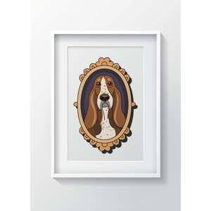 Nástěnný obraz OYO Kids Framed Dog, 24 x 29 cm