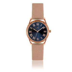 Dámské hodinky s páskem z nerezové oceli v růžovozlaté barvě Victoria Walls Fae