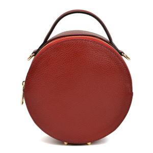 Vínově červená kožená kabelka Isabella Rhea Valerio