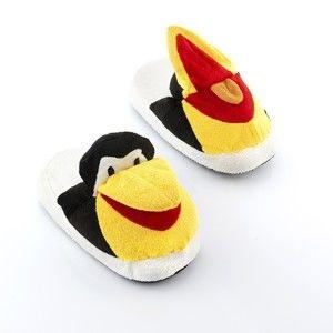 Dětské bačkory InnovaGoods Fluffy Slippers Penguin, velikost S