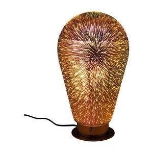 Jantarově hnědá stolní lampa Kare Design Firework