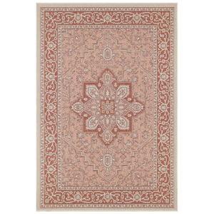 Červeno-béžový venkovní koberec Bougari Anjara, 160 x 230 cm