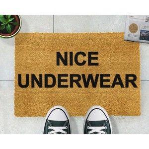 Rohožka z přírodního kokosového vlákna Artsy Doormats Nice Underwear,40x60cm
