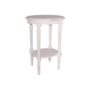Bílý odkládací stolek Evegreen House, ⌀ 44 cm