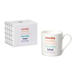 Hrnek z kostního porcelánu Yes studio Monday Blink, 380 ml