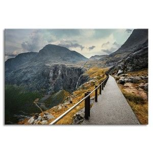 Obraz Styler Glasspik Views Norway Mountains, 80 x 120 cm