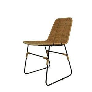 Černá jídelní židle z kovu a dřeva HSM collection Africa