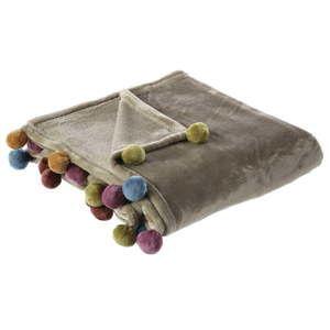 Hnědá deka Unimasa Ball, 130 x 160 cm