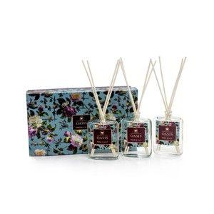 Sada 3 aroma difuzérů s vůní hrušky a lilie Bahoma London Oasis Renaissance
