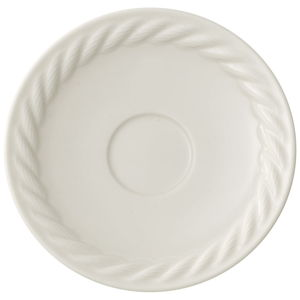 Bílý porcelánový podšálek pod espresso Villeroy & Boch Montauk, 12 cm