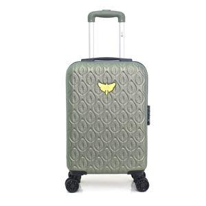 Zelené skořepinové zavazadlo na 4 kolečkách LPB Alicia, 31l