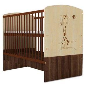Dětská postýlka v dekoru dřeva Faktum Makao Medvídek,70x140cm
