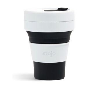 Bílo-černý skládací hrnek Stojo Pocket Cup, 355 ml