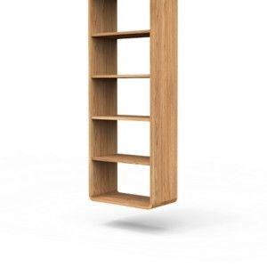 Knihovna z masivního dubového dřeva Javorina Ultra, 160 x 60 cm