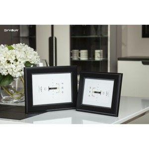 Černý rámeček na fotografii Styler Malmo, 40x50cm
