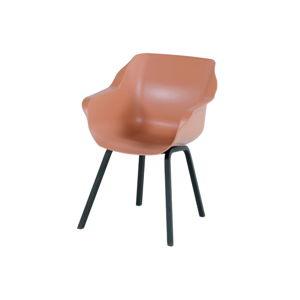 Sada 2 světle oranžových zahradních židlí Hartman Sophie