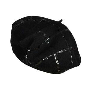 Černý dámský vlněný baret Art of Polo Sofia