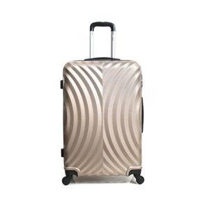 Zlatavě béžový cestovní kufr na kolečkách Hero Lagos, 60l
