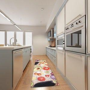Vysoce odolný kuchyňský koberec Webtappeti Food, 60x220 cm