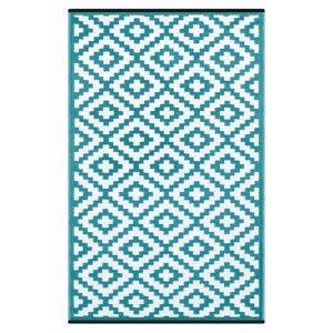 Modro-bílý oboustranný koberec vhodný i do exteriéru Green Decore Classo, 150 x 240 cm